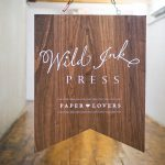 Wild Ink Press Wood Event Sign