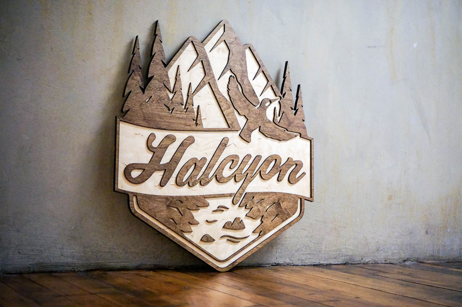 Halcyon Financial Raised Wood Sign