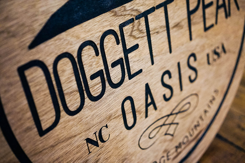 Doggett Peak wood sign