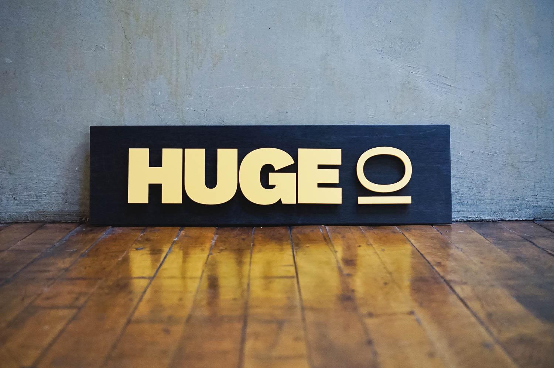 Huge I/O door sign