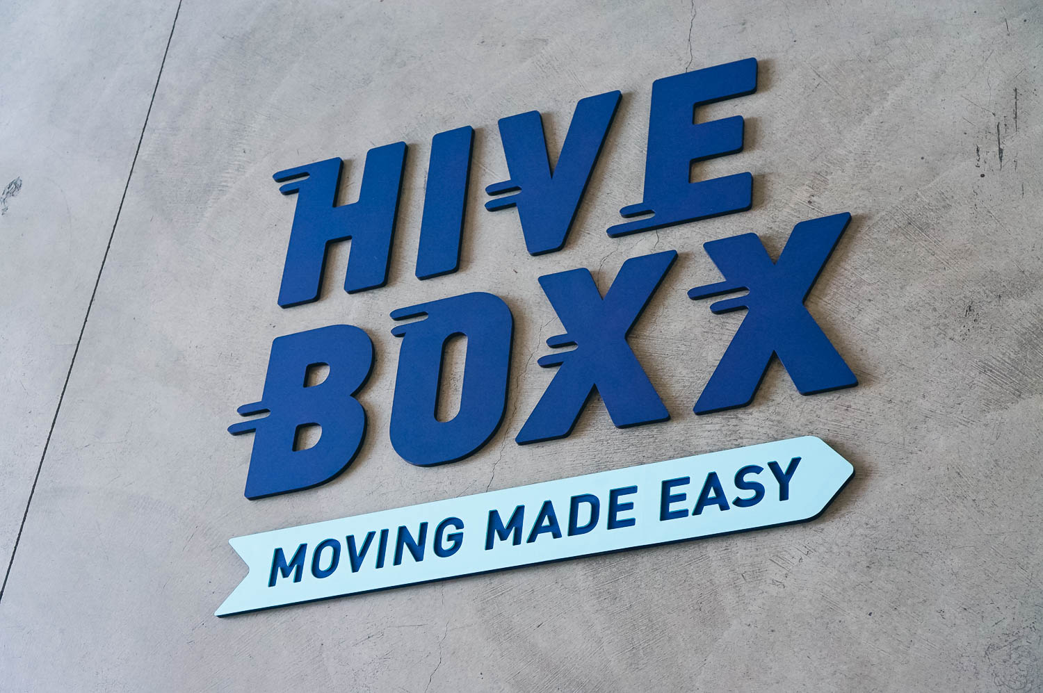 Hiveboxx custom painted sign