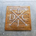 DJC reclaimed wood sign