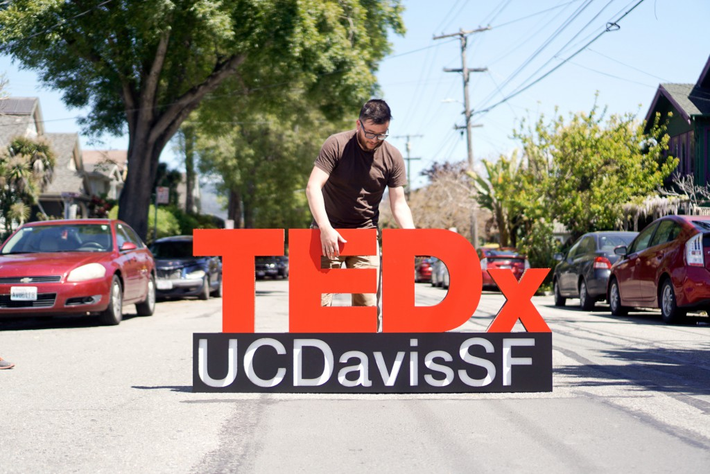 TEDx Freestanding Cardboard Sign