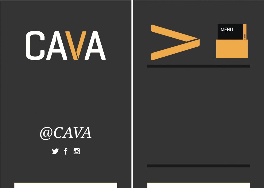 Cava Grill Custom Painted A-Frame