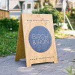 Birch & Iron Wood A-Frame Sign