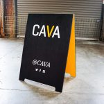 Cava Grill Custom Painted A-Frame