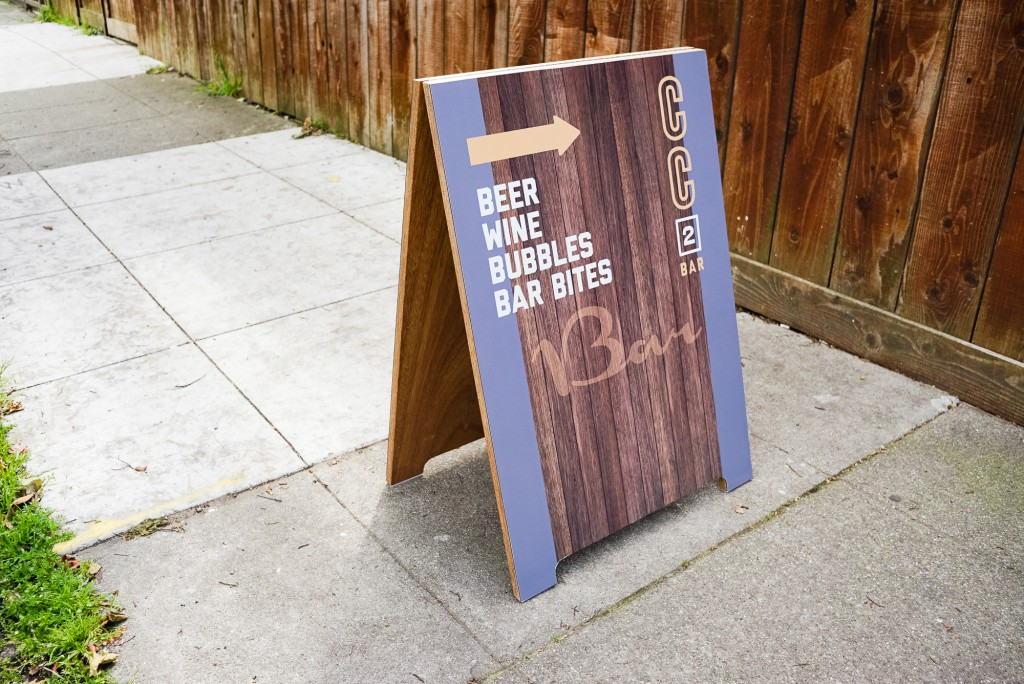Coffee Cultures Printed Wood A-Frame Sign