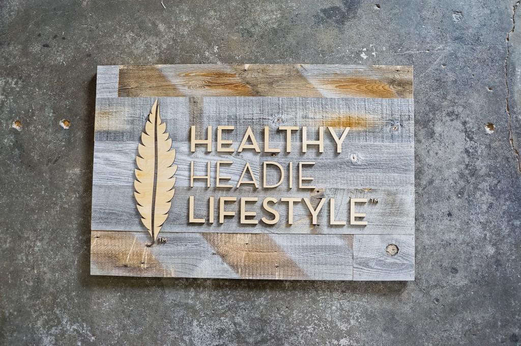 healthy headie reclaimed wood sign