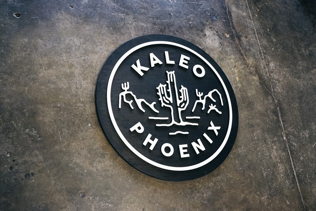 Kaleo Phoenix black and white raised sign