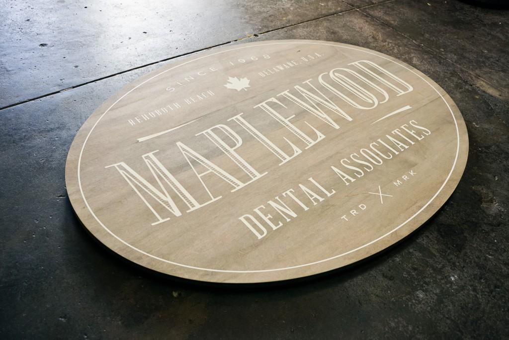 Maplewood whitewashed sign