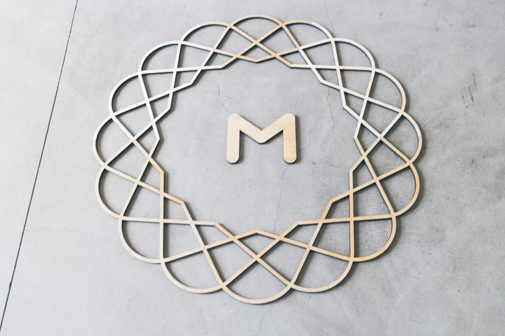 Metalab wood sign