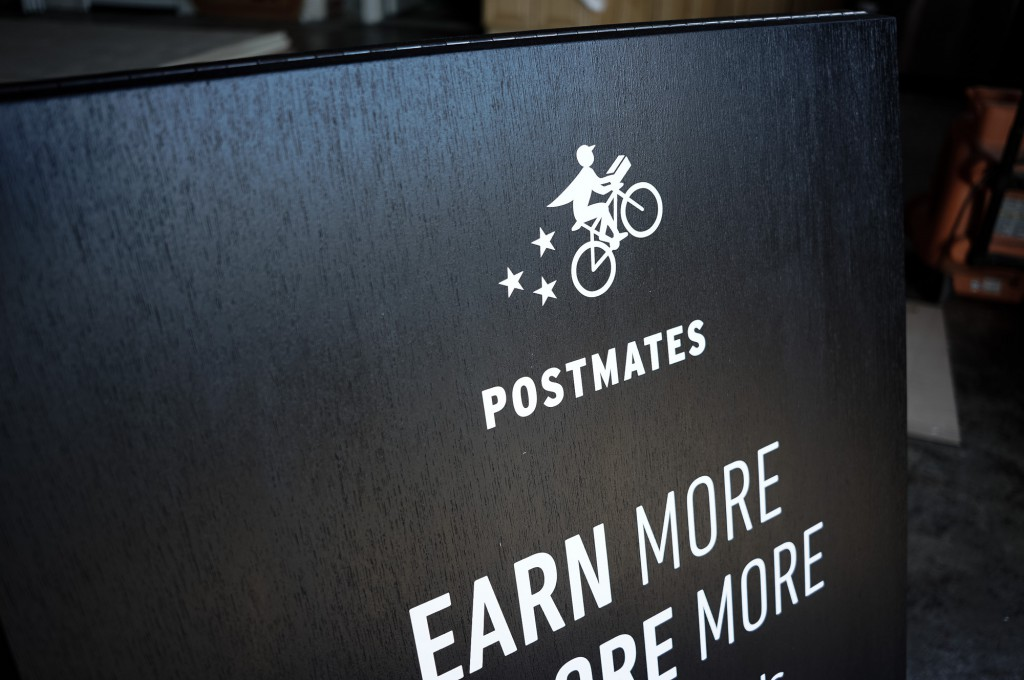 postmates a-frame sign