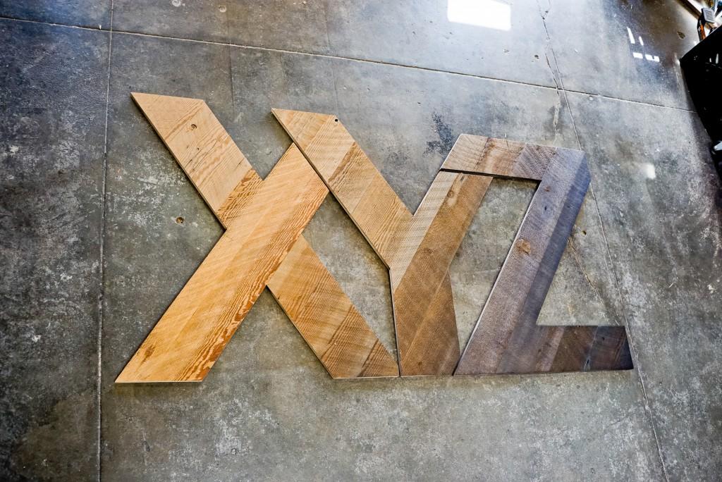 xyz reclaimed wood sign