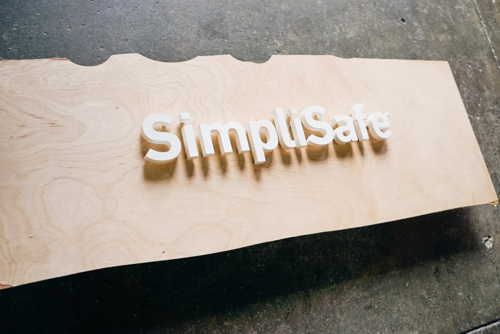 Simplisafe white letters