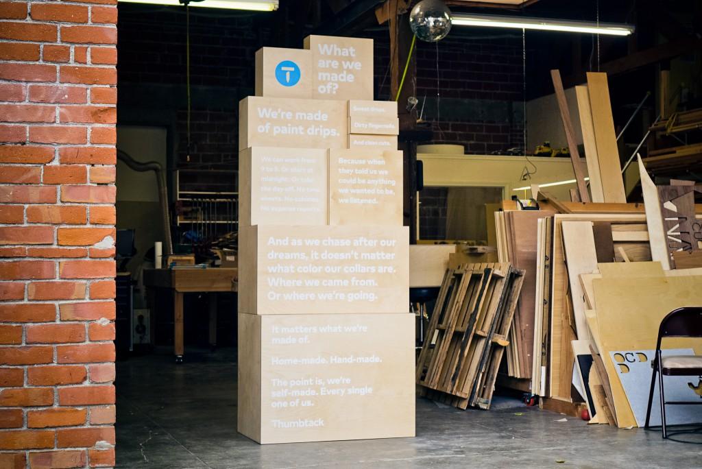 Thumbtack Manifesto Box Signage