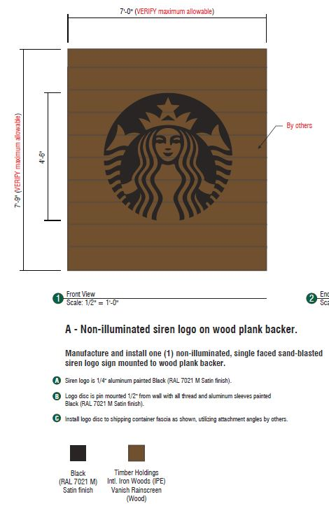 starbucks container sign elevation