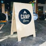 Camp Sierra Large Oversized Wood Event A-Frame for Apple