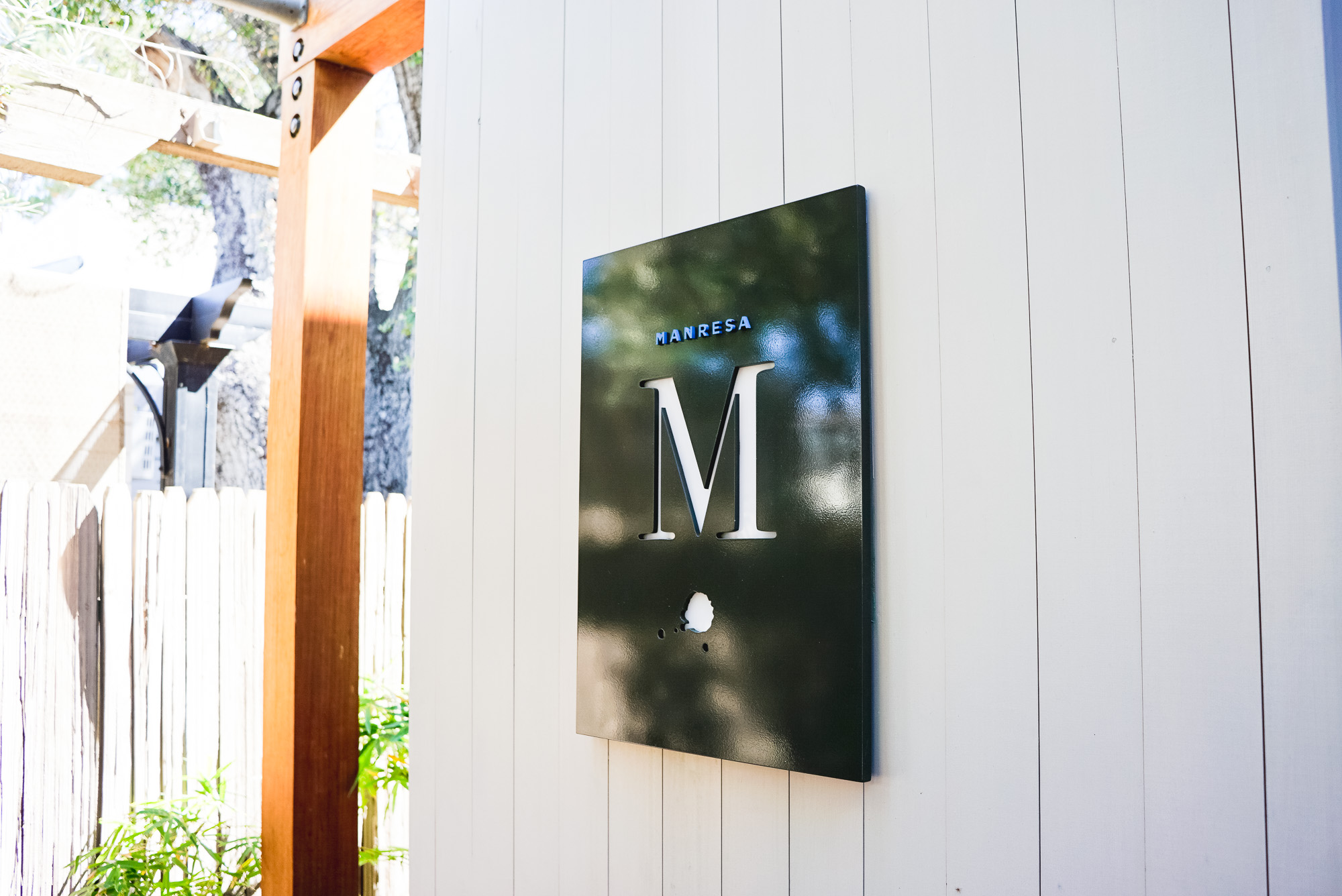 Manresa Restaurant Custom Entrance Sign