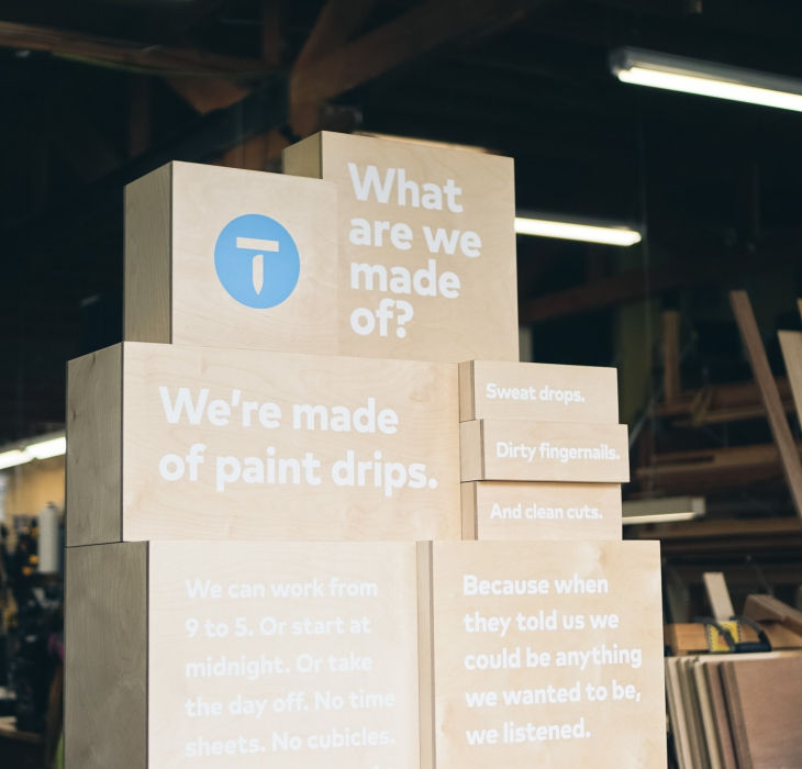 Thumbtack Manifesto Art Installation