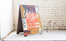 Coffee Cultures A-Frame Sign