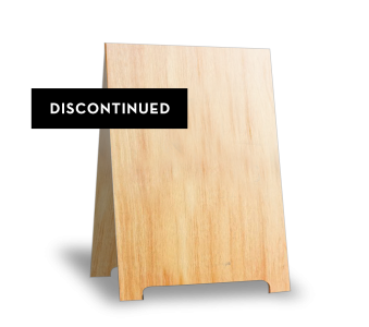 A-frame Sign in Natural [DISCONTINUED]