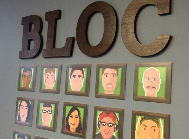 Floating Sign for BLOC