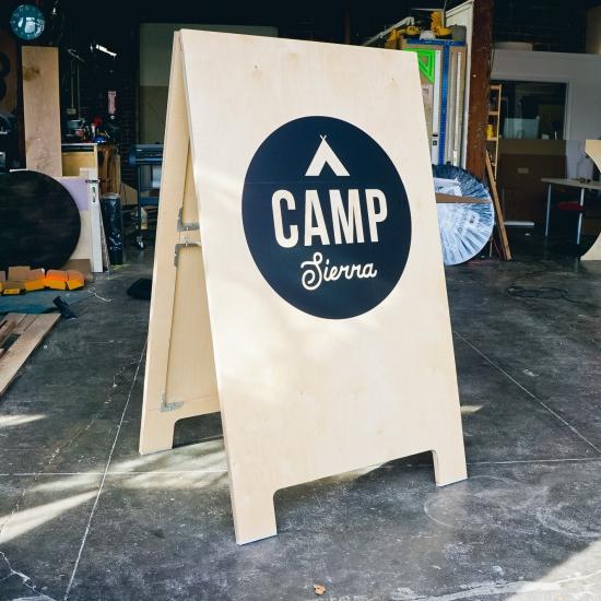 Camp Sierra Event A-Frame Sign