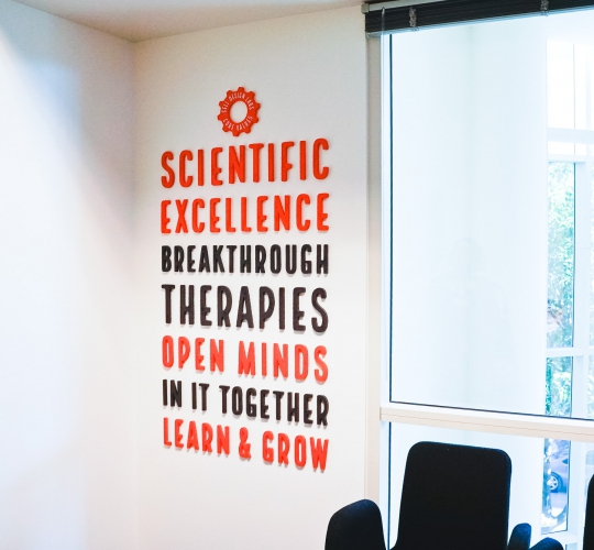 Cell Design Labs Values Wall