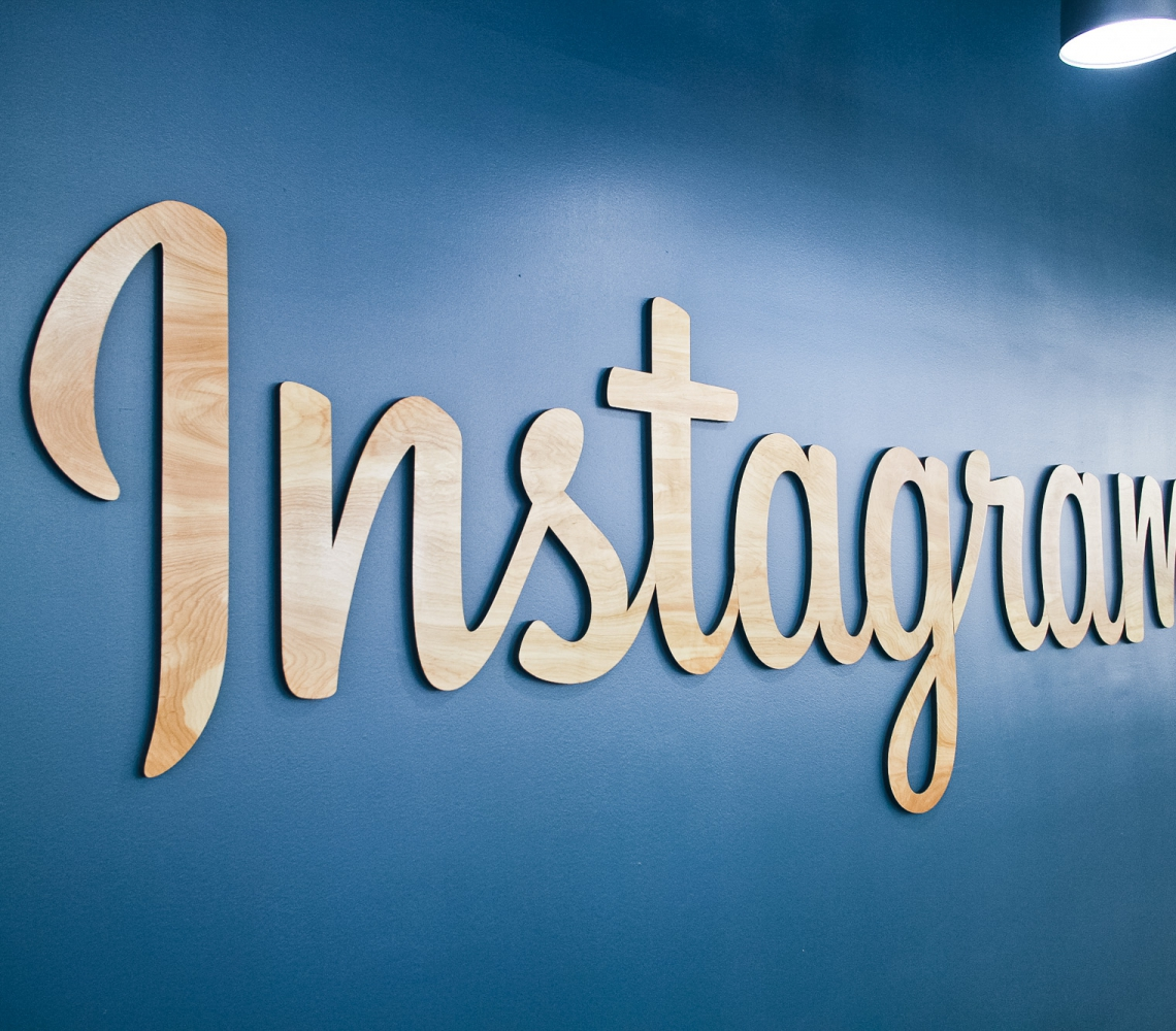 Instagram wood sign