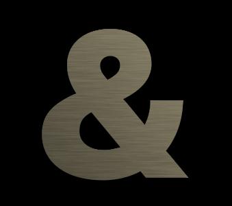 Metallic Floating Sign in Bronze