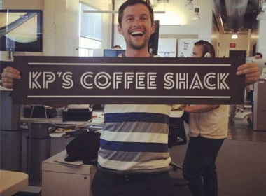 KP's Coffee Shack Etched Sign
