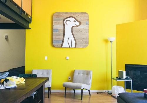 Meerkat Raised Rustic Wood Sign