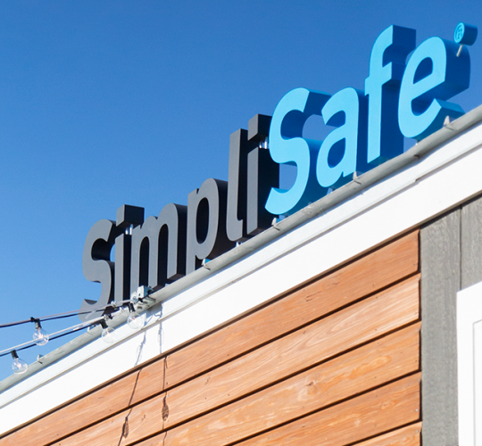 SimpliSafe Freestanding Sign