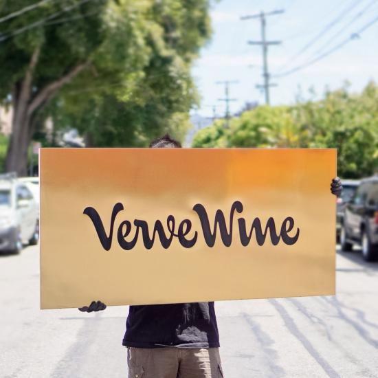 Verve Wine Hanging Blade Sign