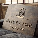Catalina Coffee Raised Wood Sign