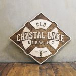 Crystal Lake Brewing Company Raised Wood Sign