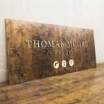 Thomas Moore Salon Raised Wood Sign
