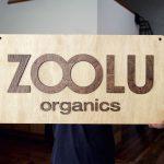 Wood Tradeshow Sign for Zoolu Organics
