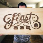 Feast BBQ Raised Wood Sign
