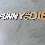 Funny or Die Floating Wood Sign