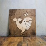 Spoutable Raised Chestnut Wood Sign