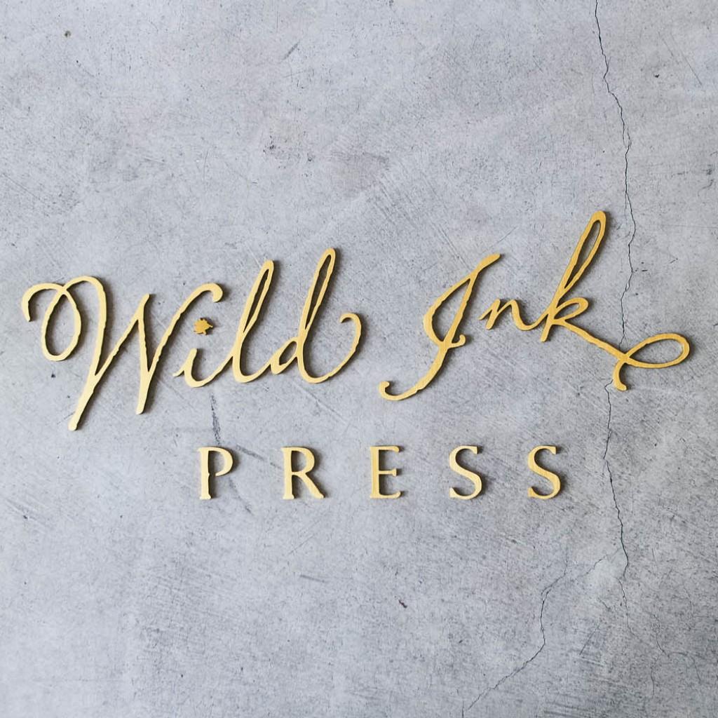 Wild Ink Brushed Gold Sign