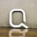 Quantopian White Wood Sign