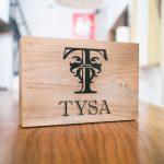 Tysa tabletop sign