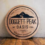 Doggett Peak wood sign