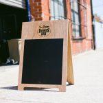 Bones Bar Wood and Chalkboard A-Frame Sign