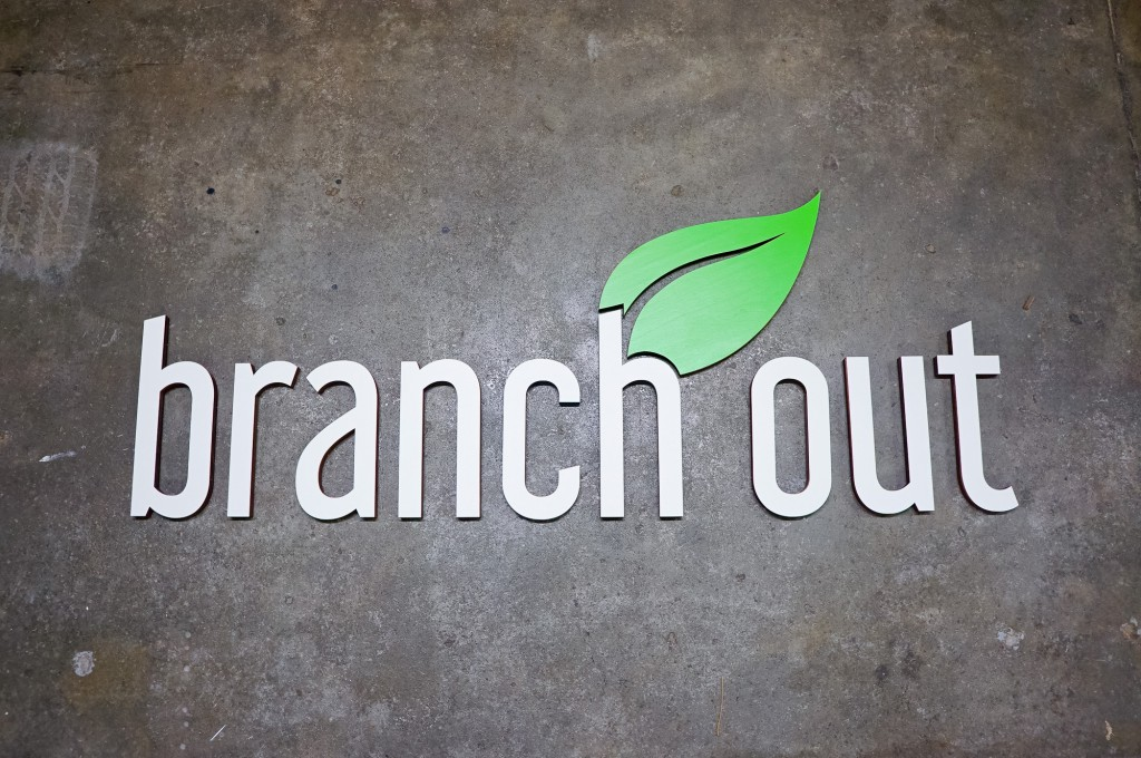 Branch Out Sign