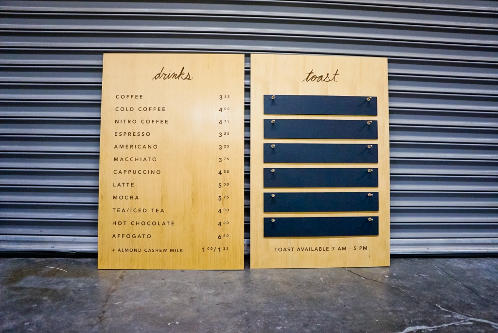 Four Barrel Changeable Menu