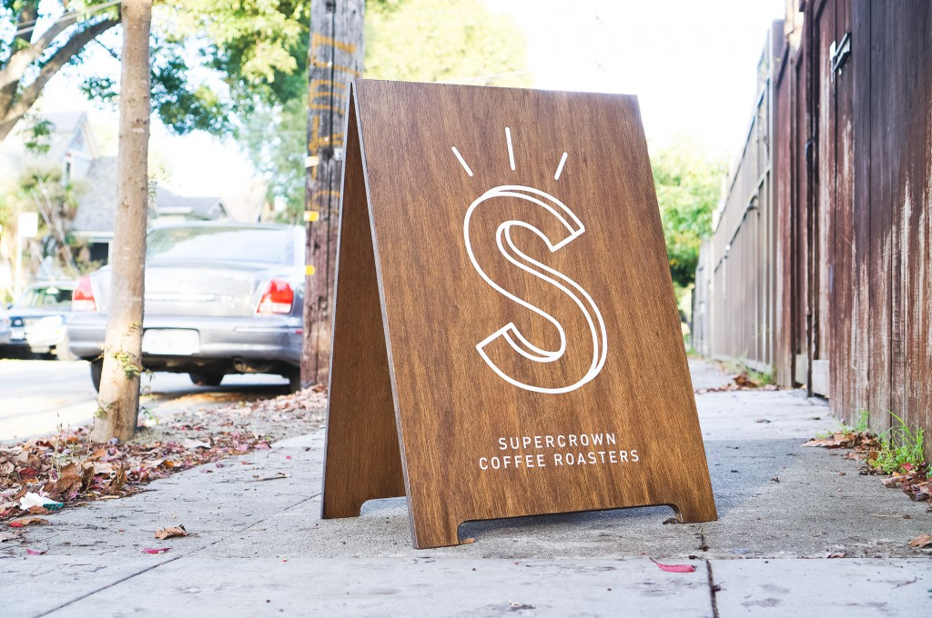Supercrown Coffee Roasters A-Frame Sign