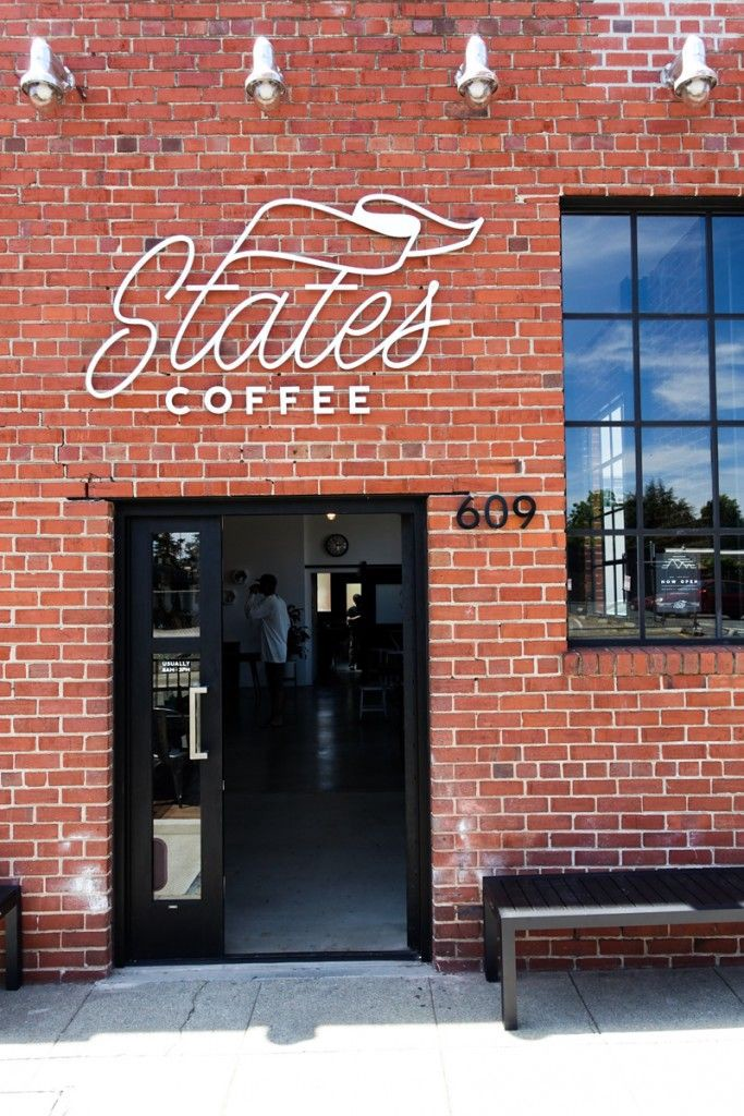States Coffee Sign